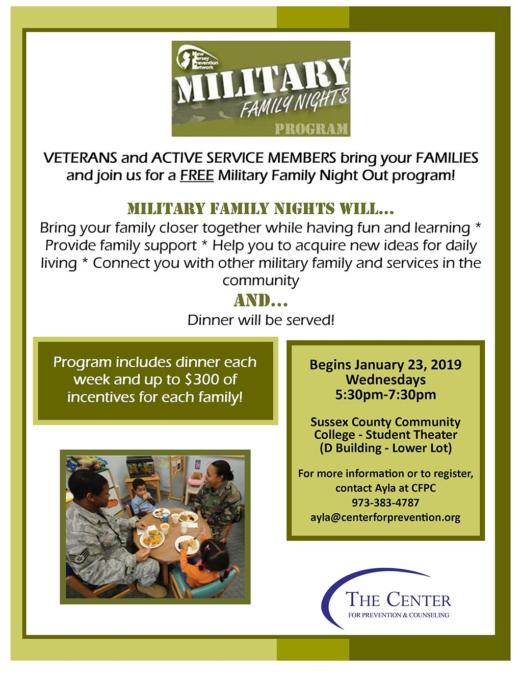 Military Families Night Out Flyer